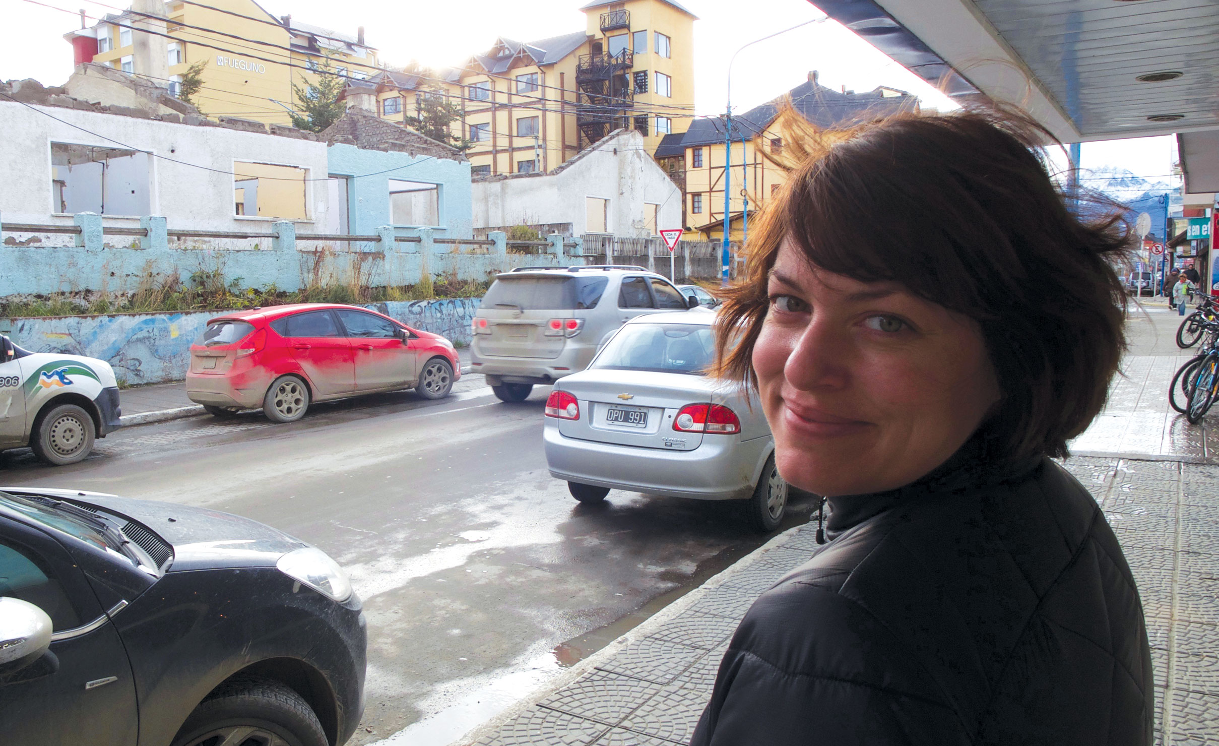 In Ushuaia, Argentina. As far south as you can go... unless you're heading to Antarctica.