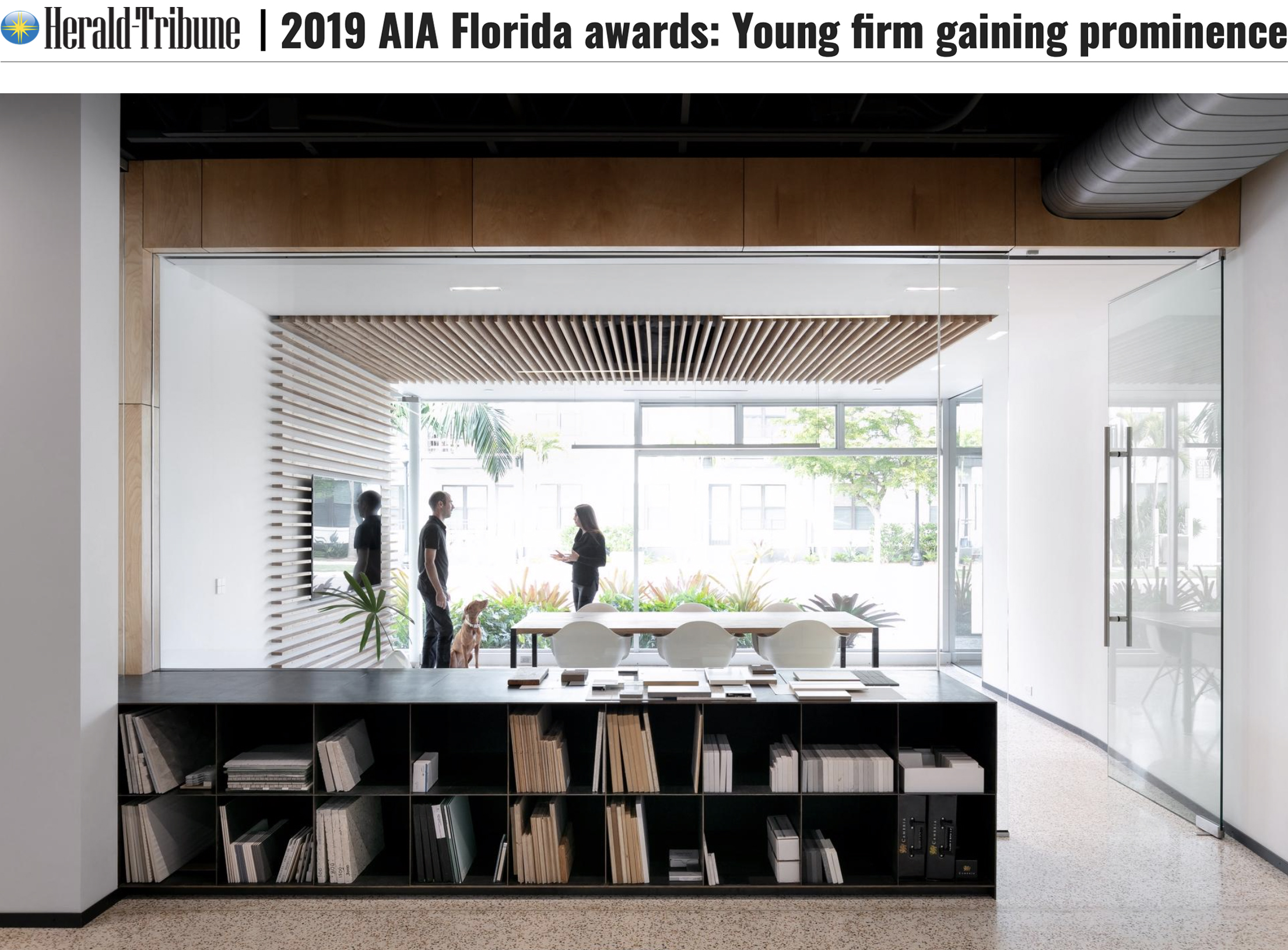"""2019 AIA FLORIDA AWARDS: YOUNG FIRM GAINING PROMINENCE"" 