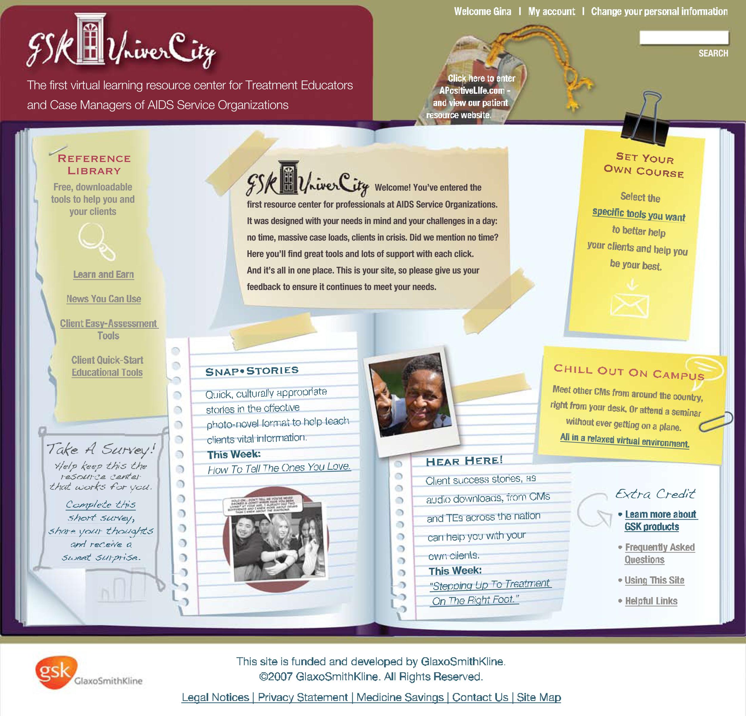 GSK UniverCity Website Design