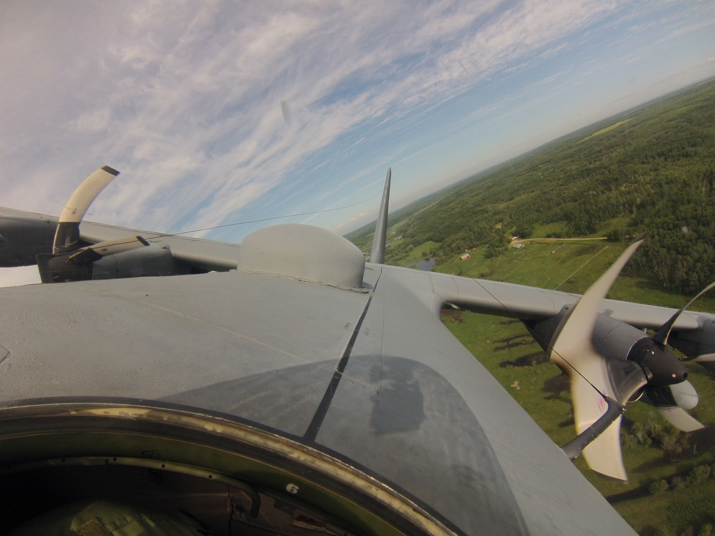 View from an American C-130 Hercules. Maple Flag 2013