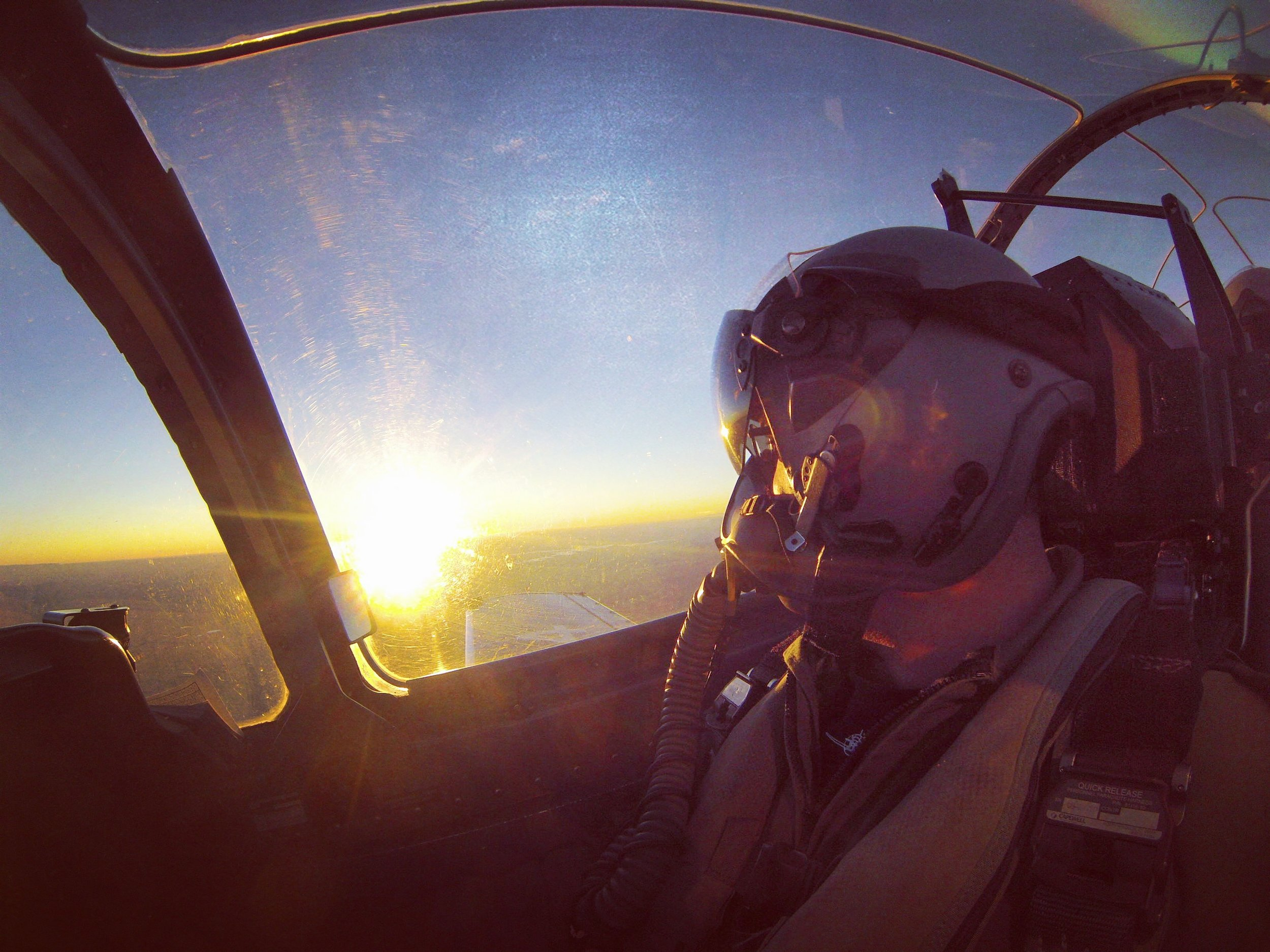 Flying into Denver, CO at sunset