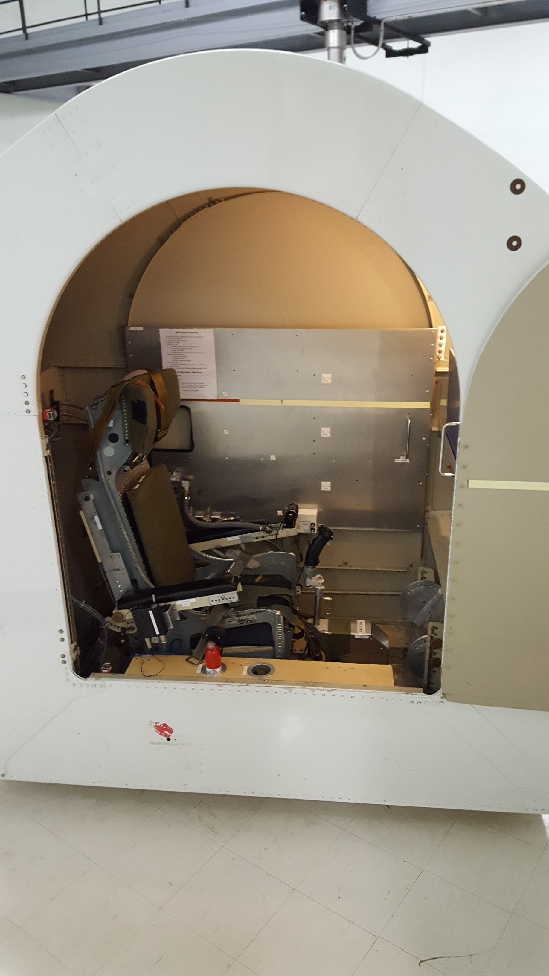 The seat inside the capsule of the centrifuge