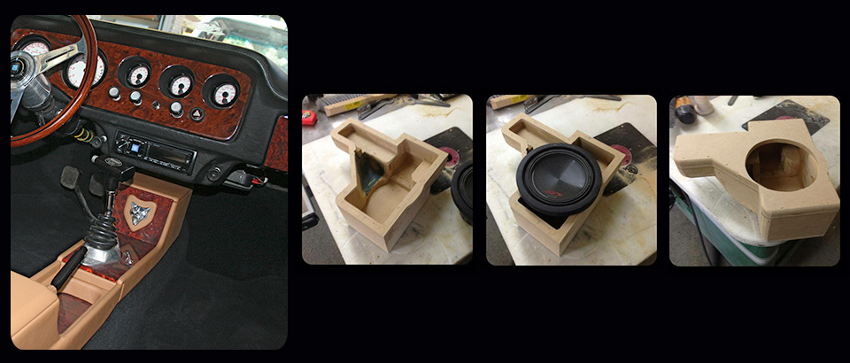 Compact under dash subwoofer