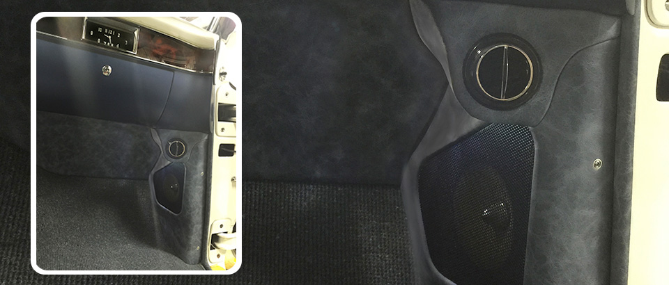 AC vents in top of kick panel to prevent cutting dash