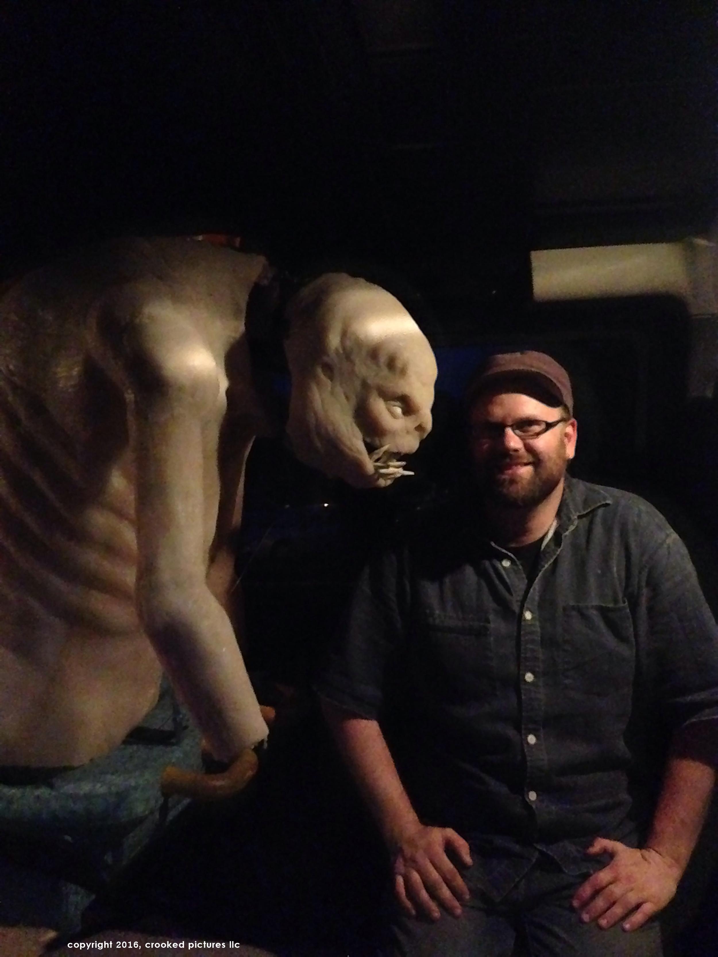 Garrett Martin, practical monster visual effects.