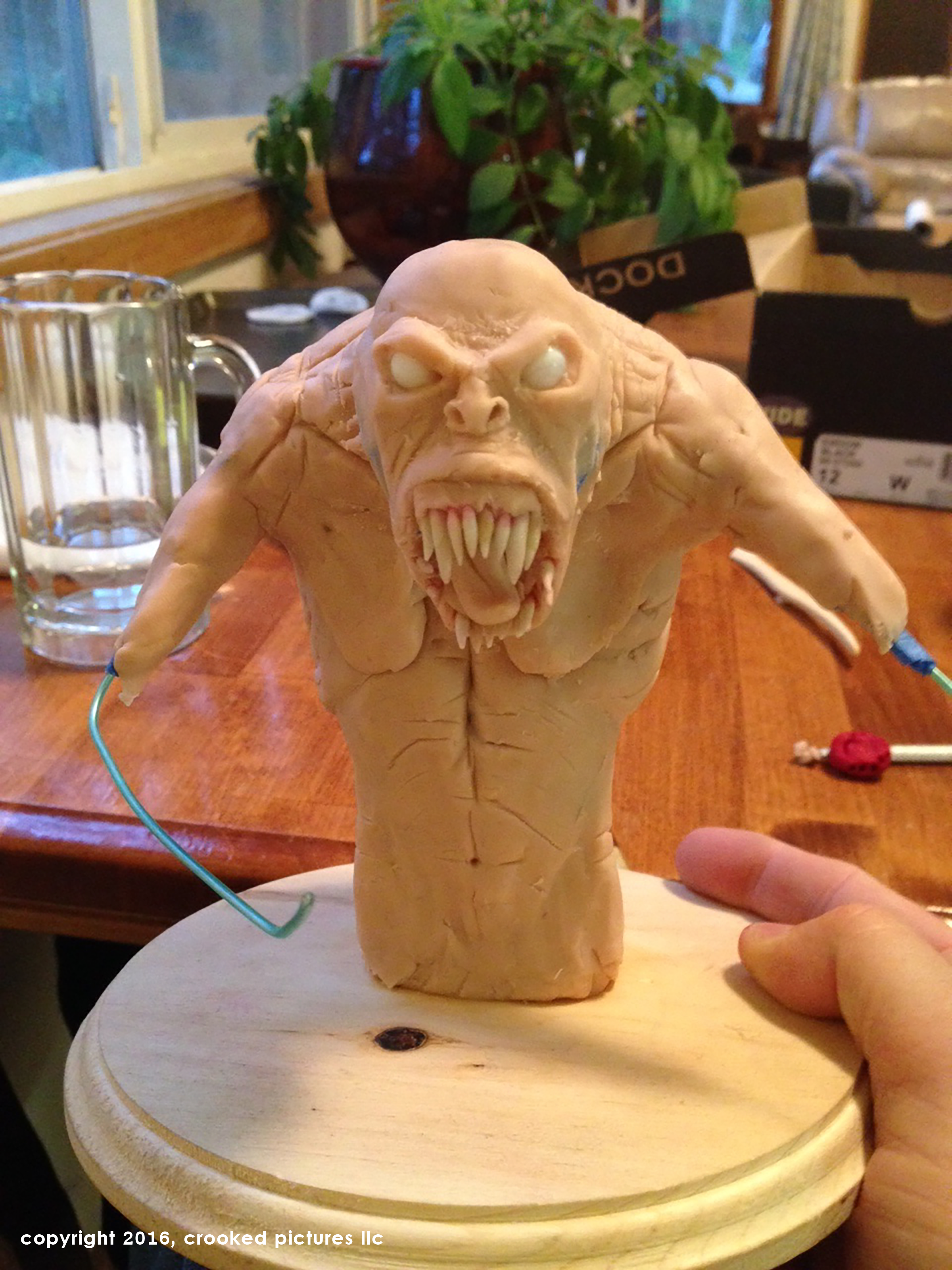 Garrett Martin Designs first miniature mockup of our monster puppet for Father of Lies.