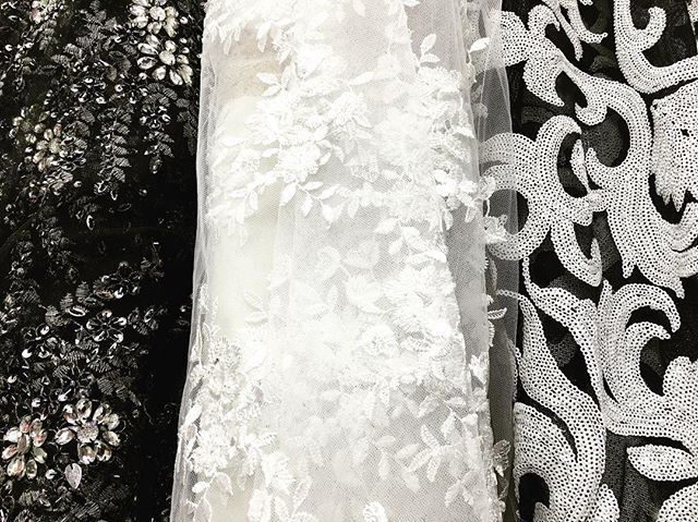 Ebad Fabrics Beaded & Sequins Laces #ebad #fabrics #ebadfabric #fabric #black #white #beaded #sequins #lace #prom #spring #prom2k17 #prom2017 #beautiful #stunning #new #fashion #newyork #nyc #designer #design #fashionblogger #trend #stretch
