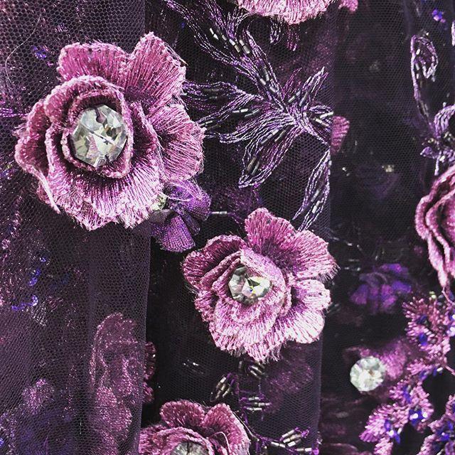 New Ebad Fabrics Rhinestone Floral Lace #ebad #fabrics #ebadfabrics #new #nyc #fabric #garment #garmentdistrict #dress #fashion #style #fabricstore #fashiongram #sew #sewing #designer #summer #sun #custom #luxury #highend #beaded #rhinestone #lace #floral #flowers #flower #purple