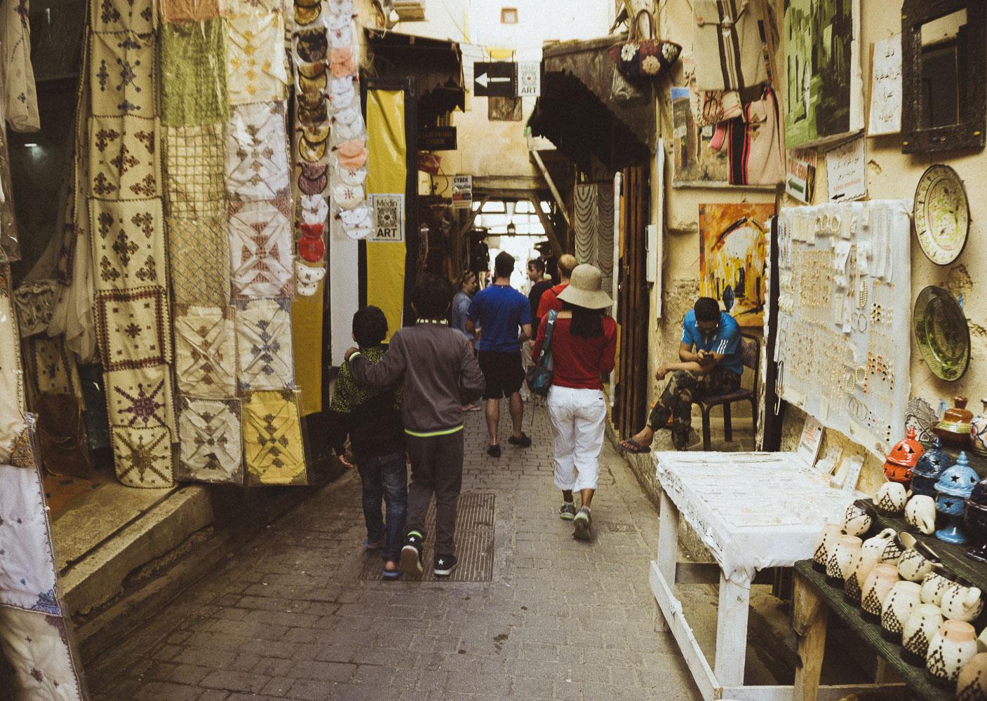Boys Walking in Medina