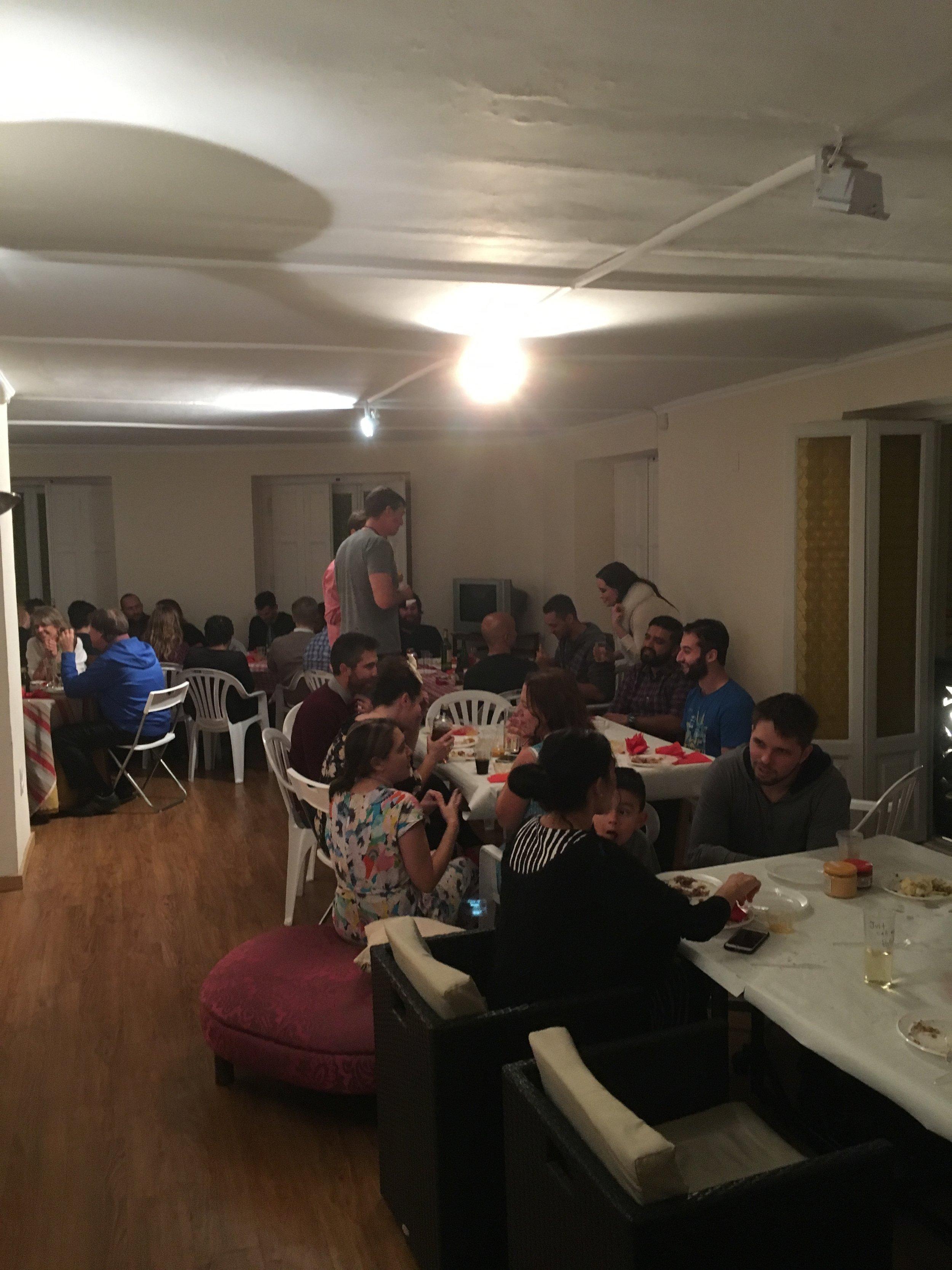 Everyone Enjoying Turkey Day.