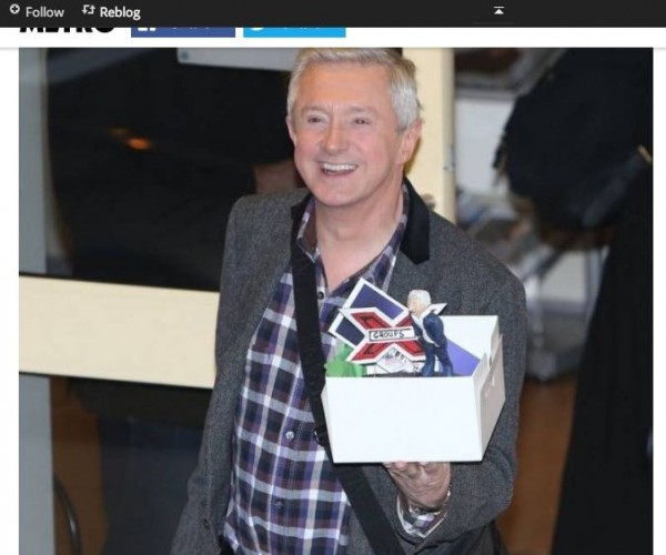 Daisy created cakes for each of the X-factor judges to mark the start of the live shows. Louis Walsh was snapped carrying his out of the studio after the show.