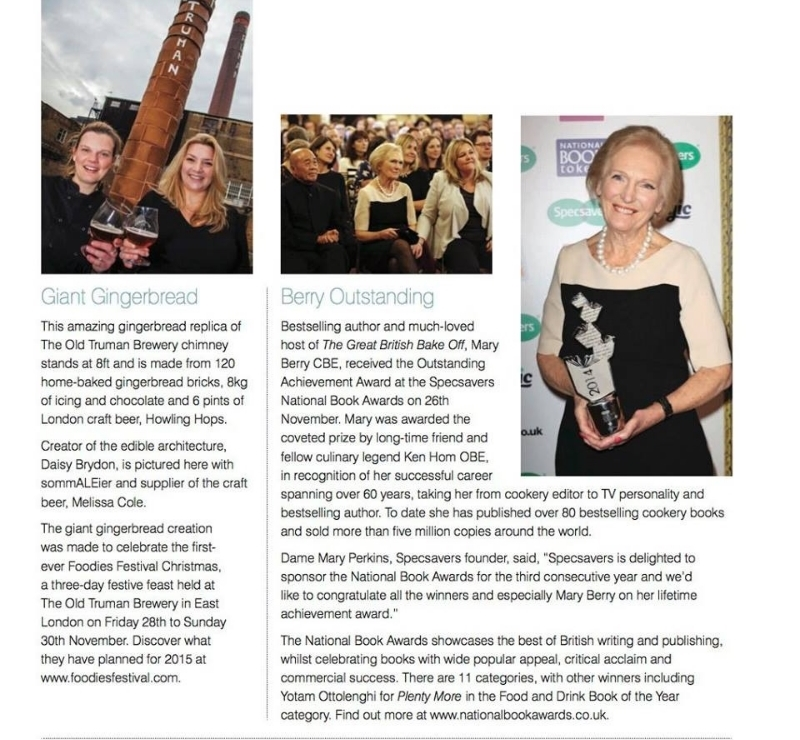 Article about gingerbread landmark in Cake Masters Magazine