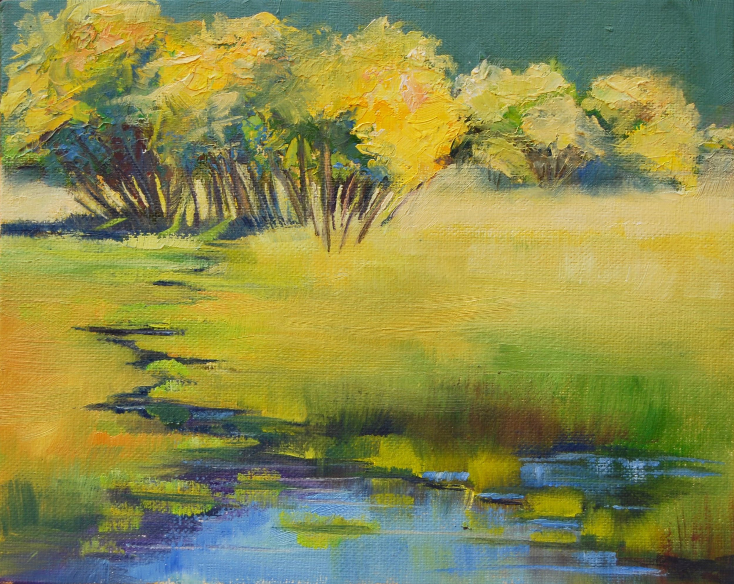 "Big Meadow Stream | Oil | 15""x18"""