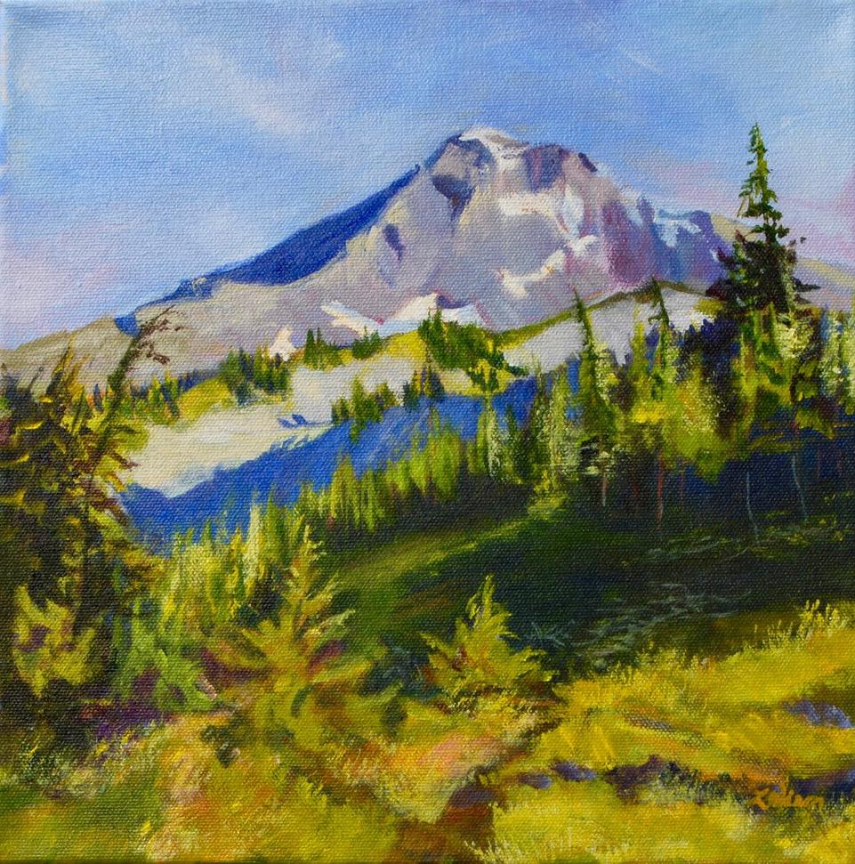 "McNeil Vantage Point 12""x12"" | acrylic on canvas | Lisa Wiser"