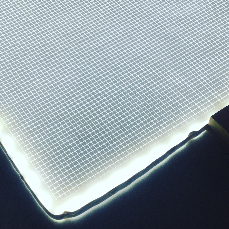Daniel Kelm, Wide Awake Garage    Laser engraved acrylic for custom light boxes