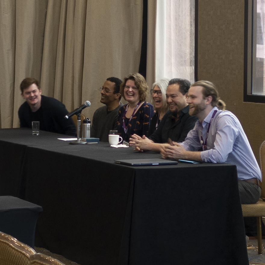 Michael Stradley, Michael Smoot, Sarah Pike, Phyllis Merriam, Miguel Aragon, and Brendan Baylor (left to right)