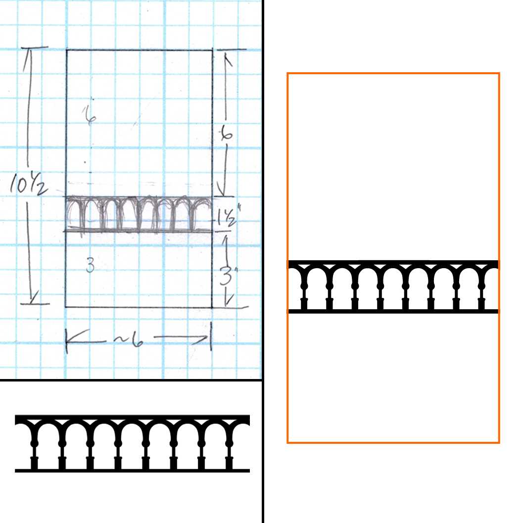 Laura's sketch (left) - Laser-ready file (right)