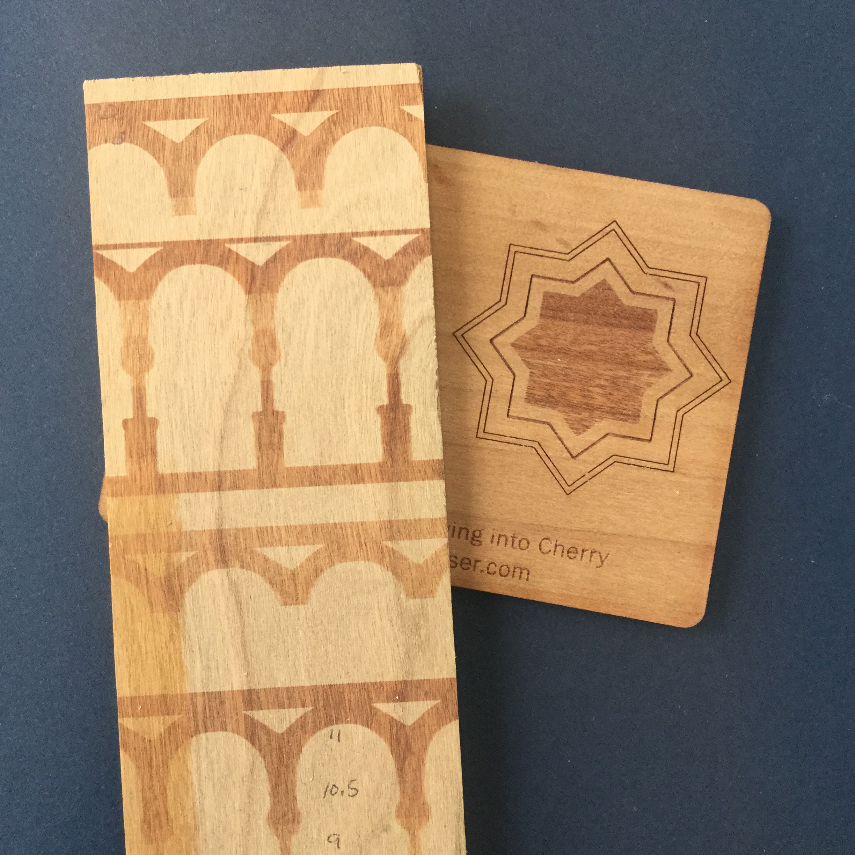 Test on Laura's wood (left) - Studio sample (right)