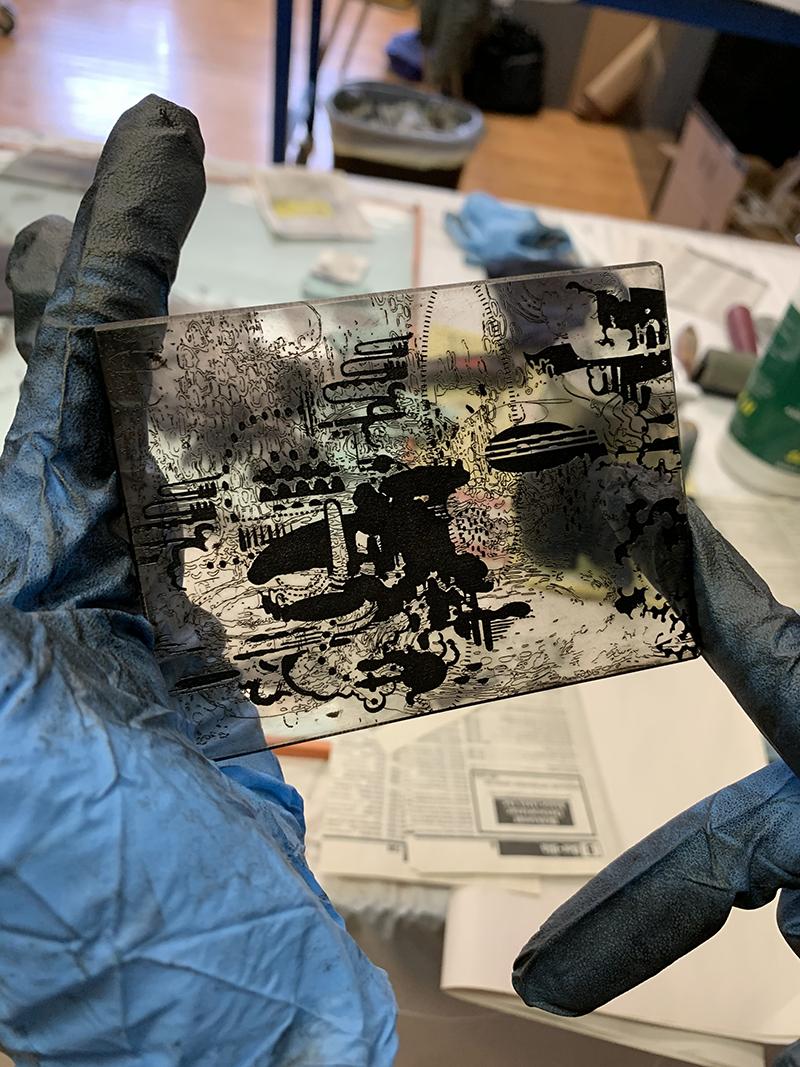 laser engraved intaglio plate
