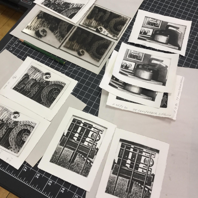 Photo intaglio plates.