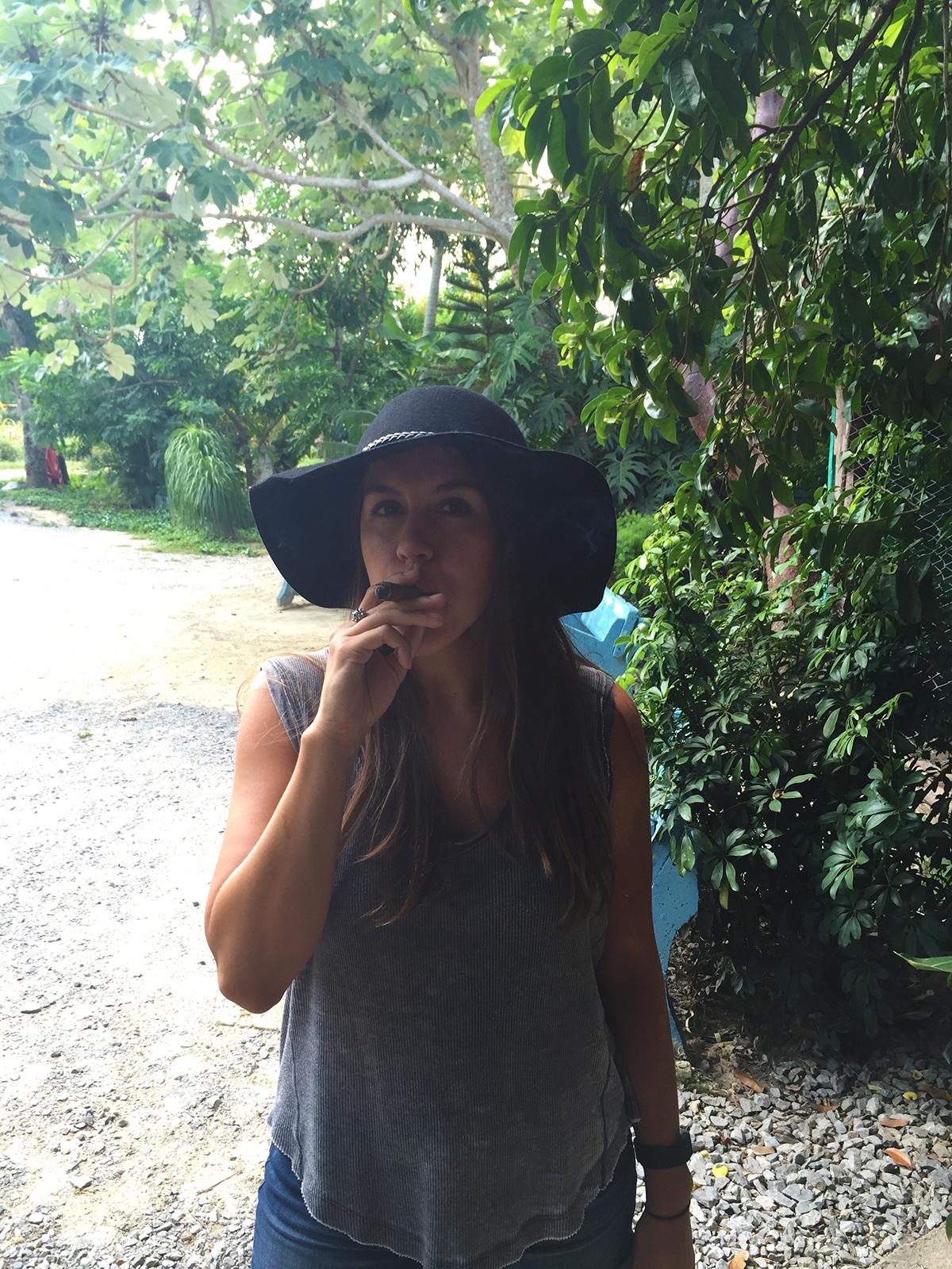 Vinales Cuba cigar smoking Steph travel.jpg