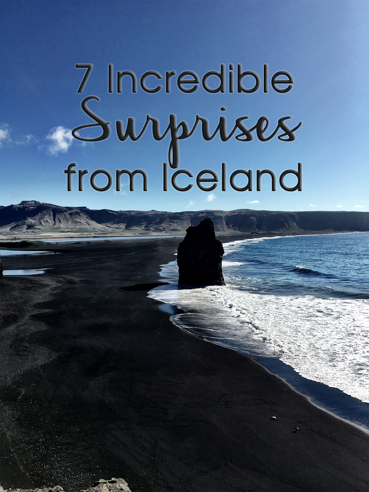 Iceland travel black beach
