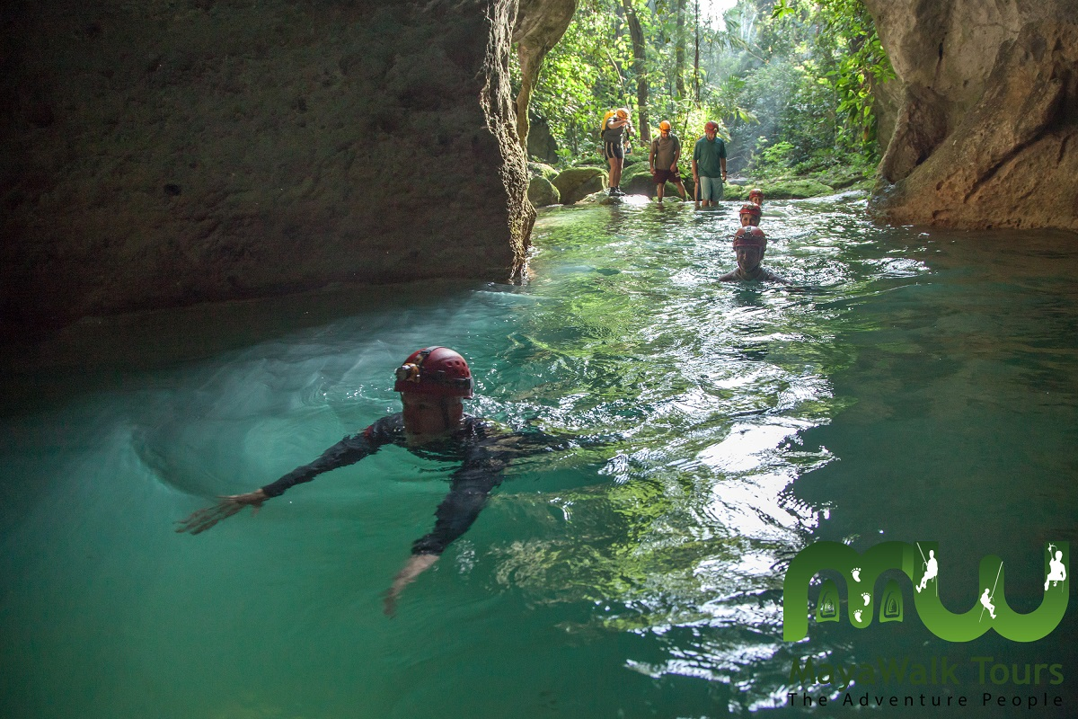 mouth of the Actun Tunichil Muknal or ATM Cave, Belize