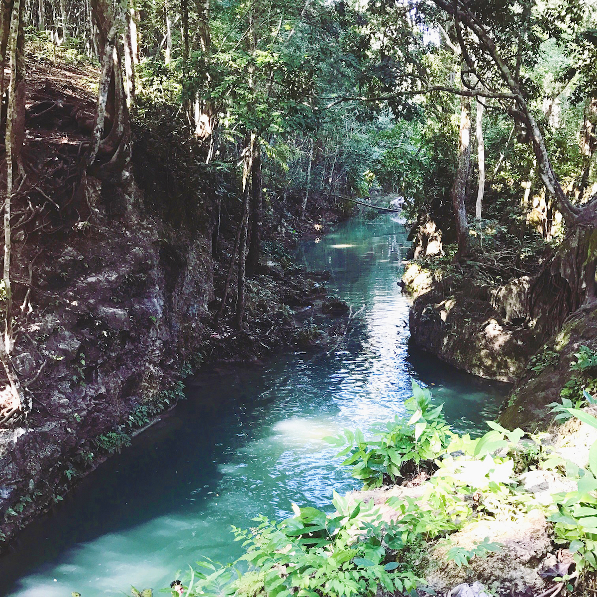 Belize waterfall Cristo Rey Falls swimming hole.jpg