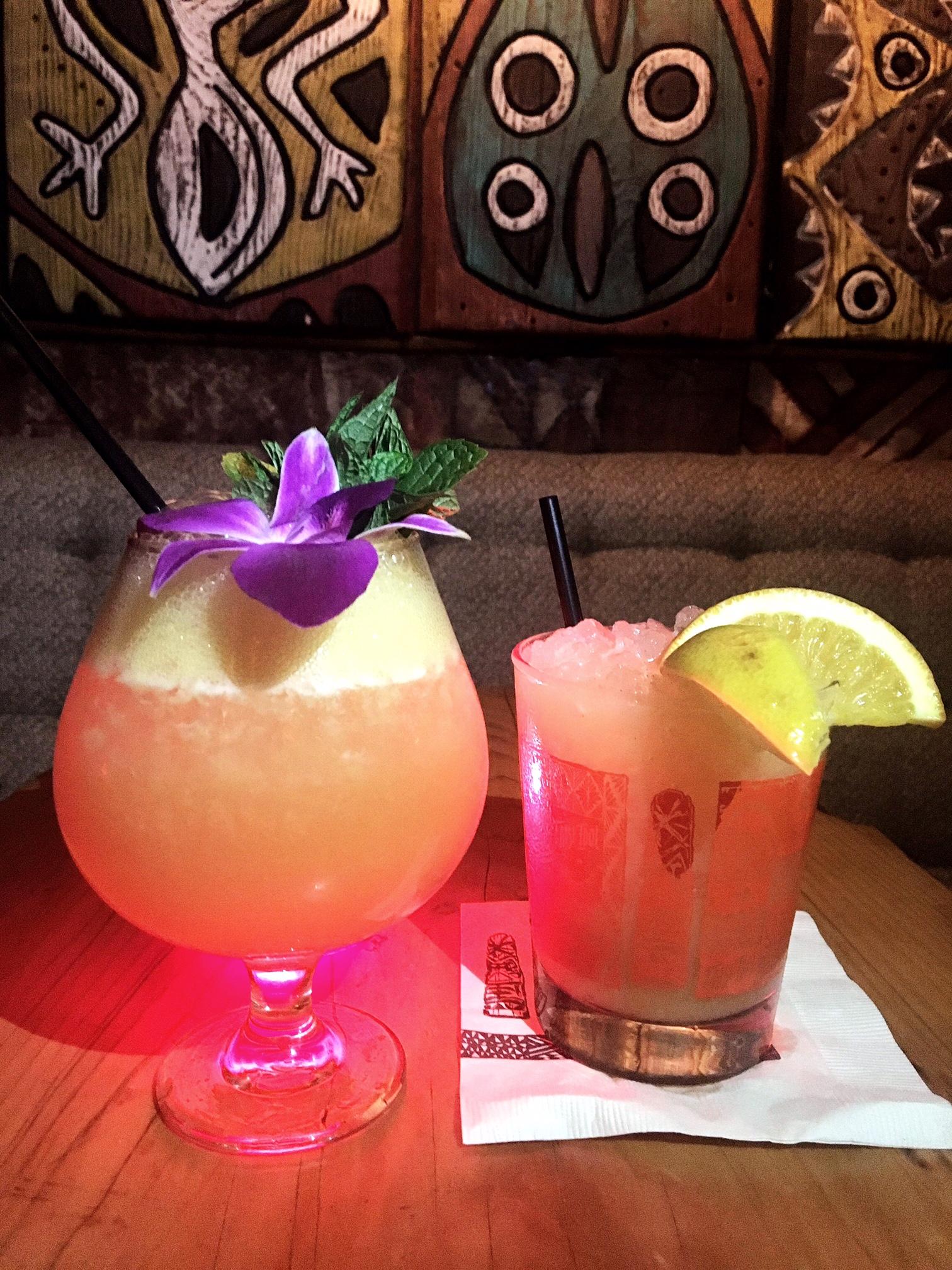 cocktails at False Idol Tiki Bar, San Diego