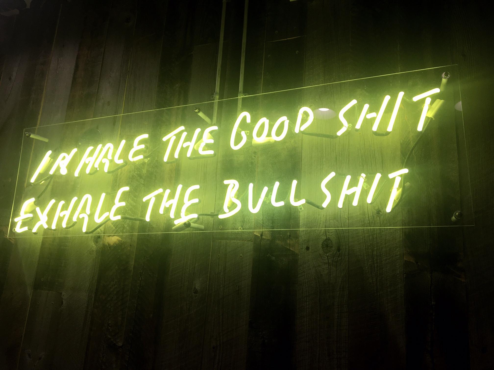 neon sign at False Idol a San Diego Tiki Bar