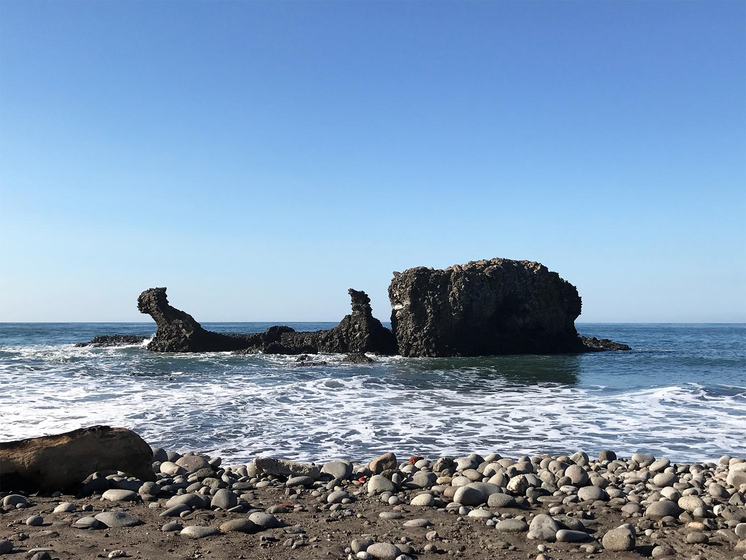 El TUnco is named after this rock, which years ago looked like a Pig