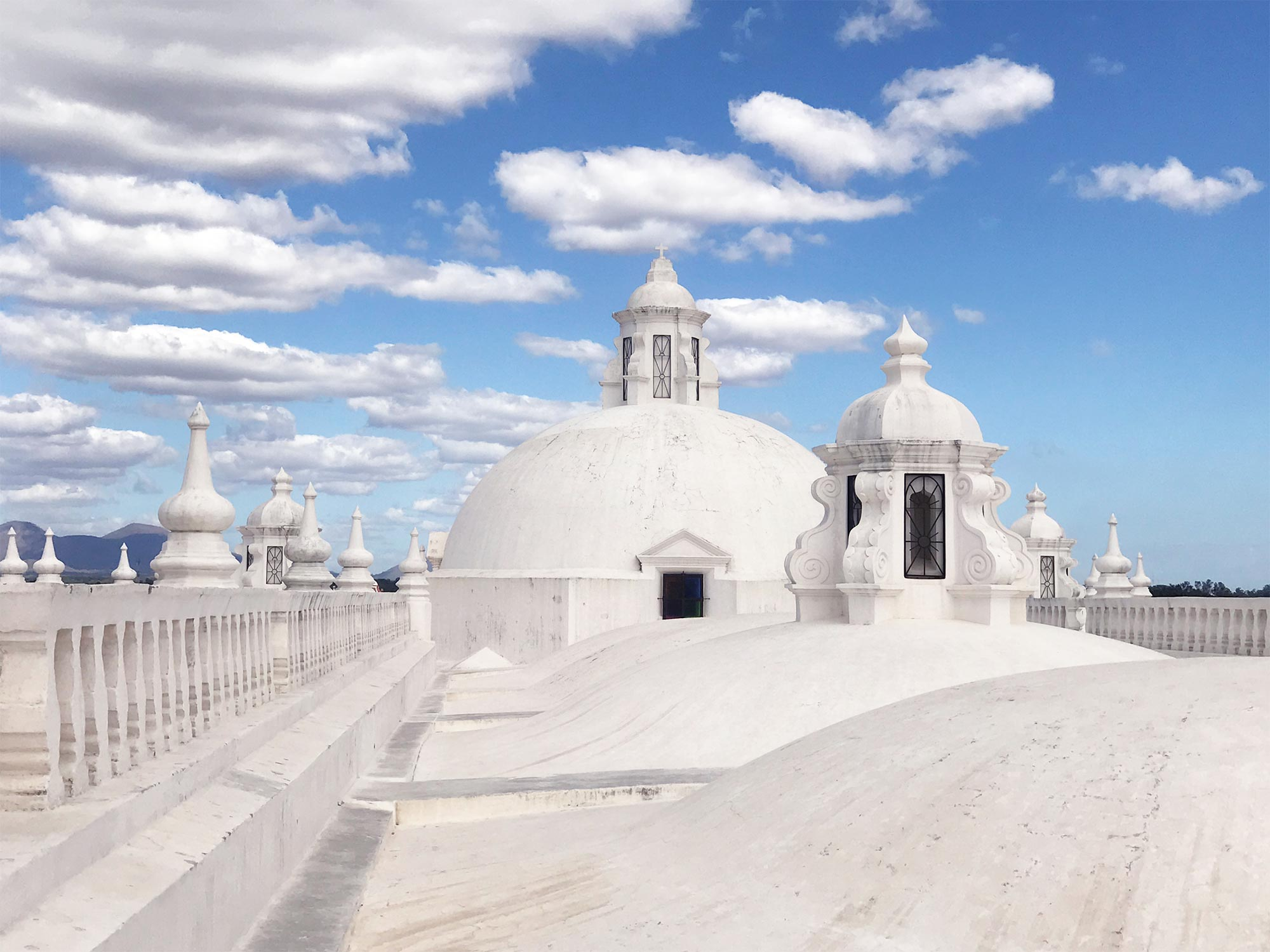 Leon Nicaragua cathedral rooftop domes