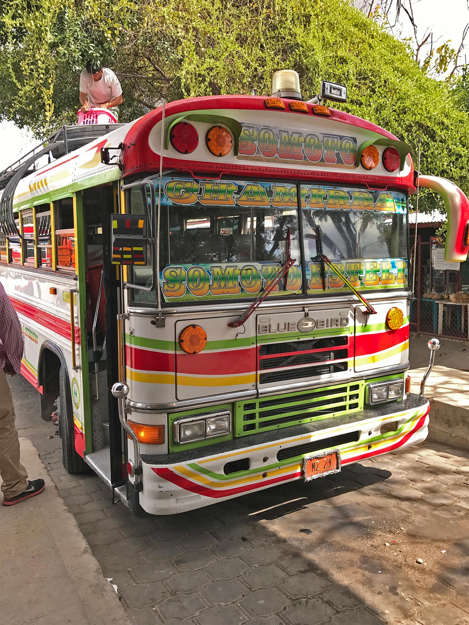 The bus from Esteli to somoto canyon, very easy to spot!