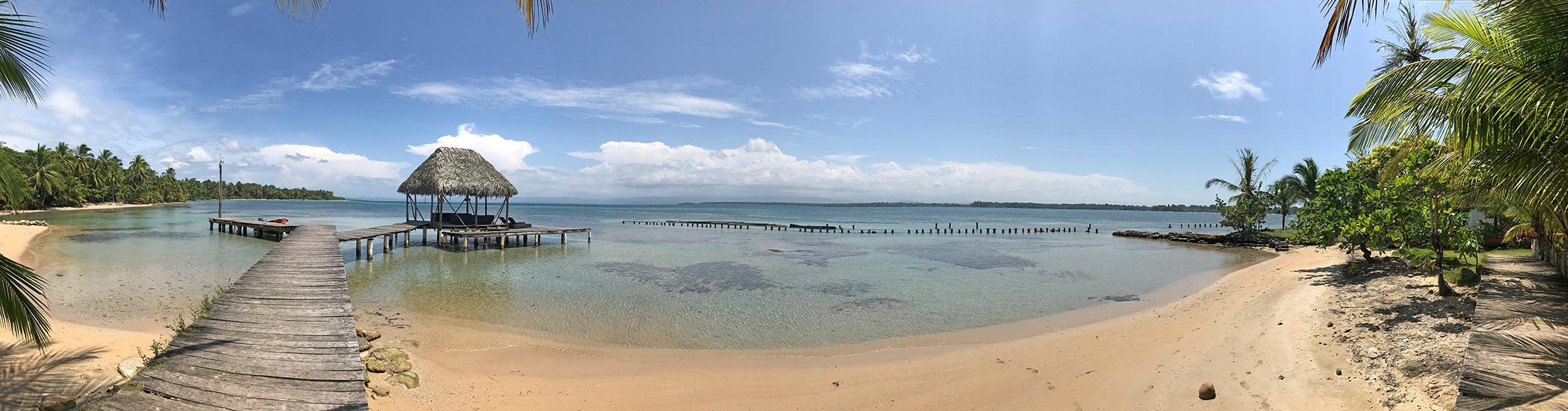 walking to Starfish Beach on Isla Colon, Bocas del Toro, Panama