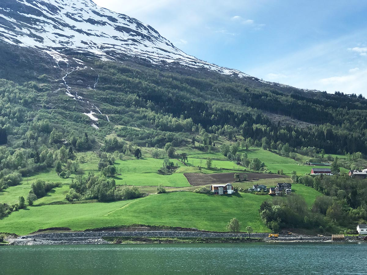 Sognefjord town of olden