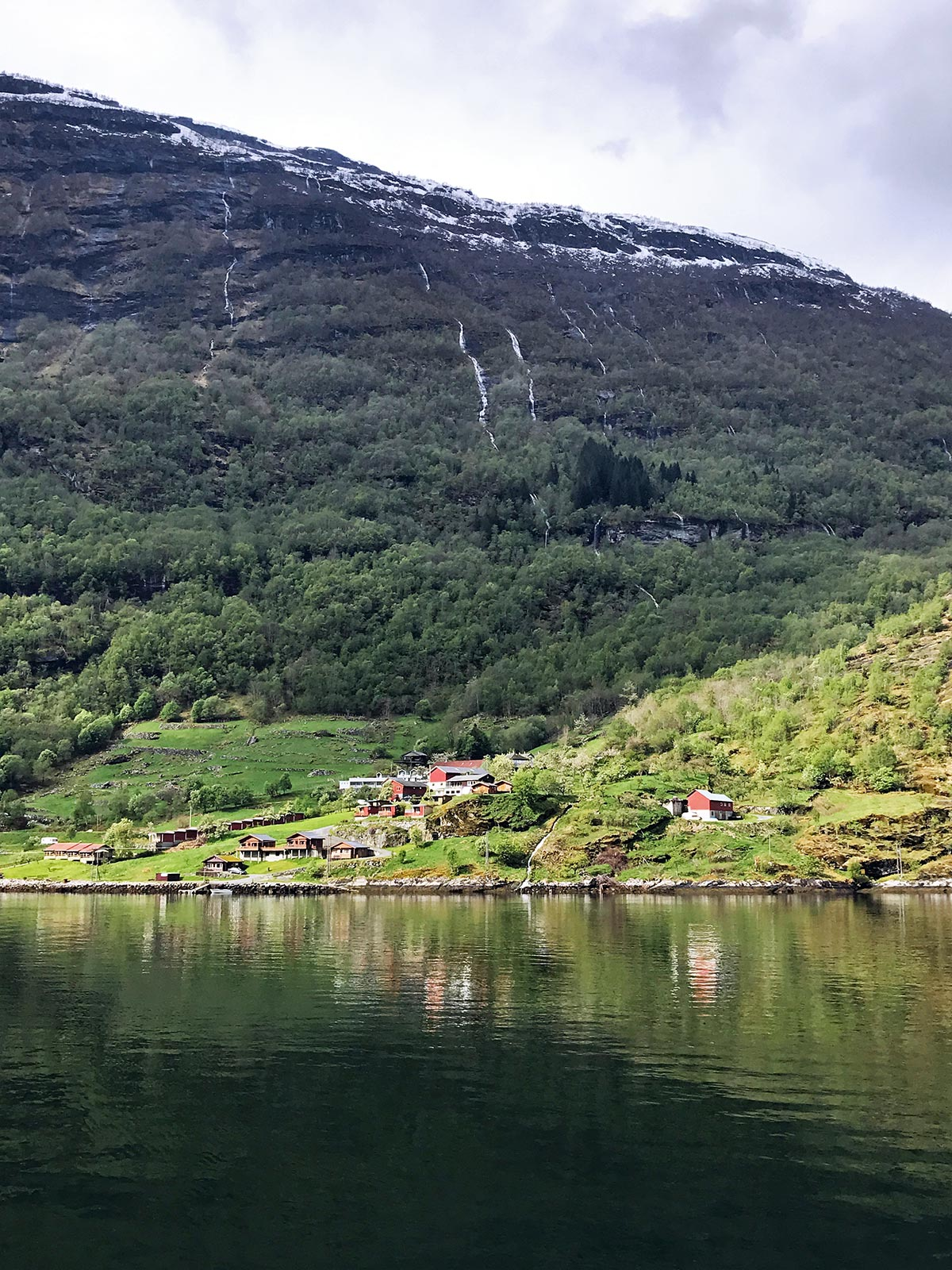 views from the geirangerfjord ferry