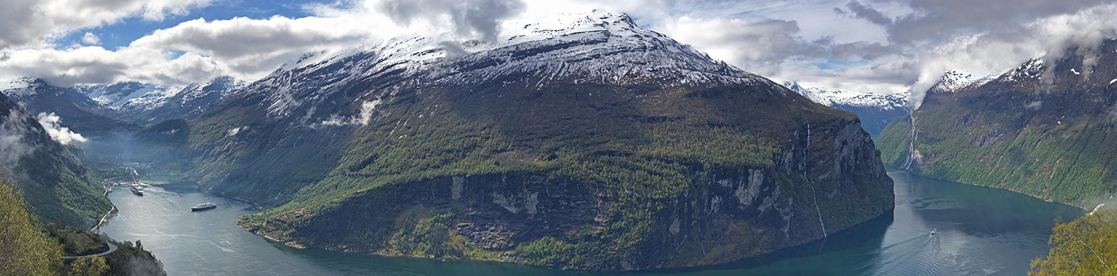 views of geirangerfjord, Norway from above