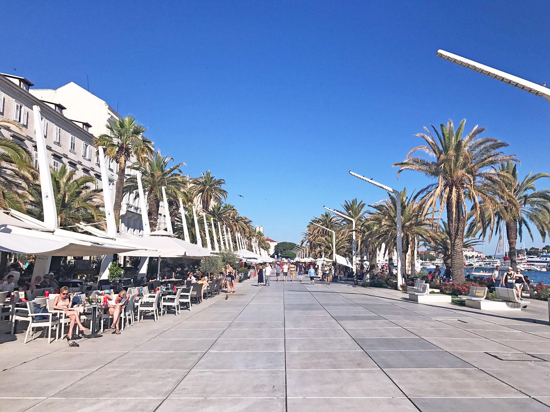 Split, Croatia's famous riva street