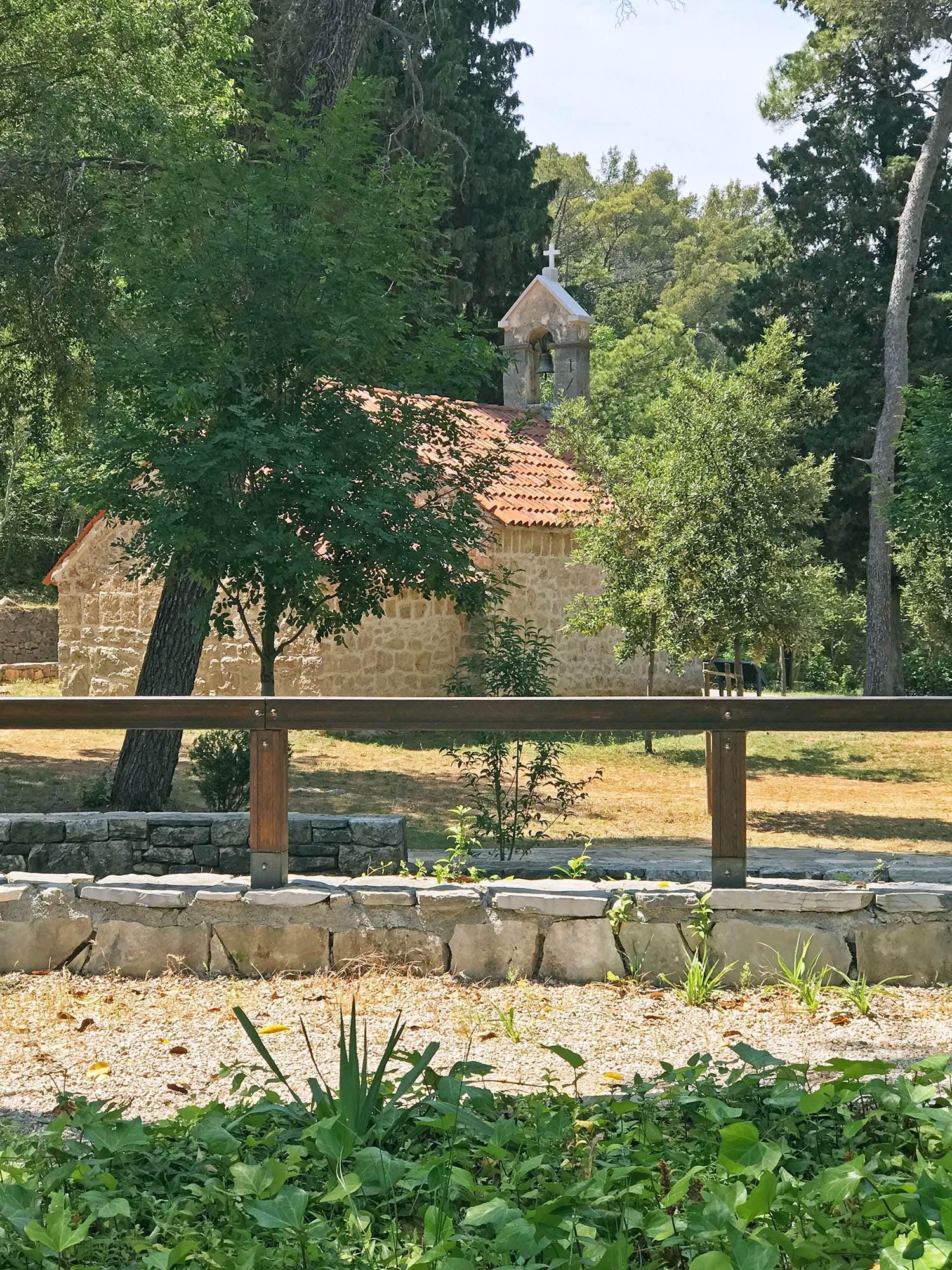 church in Krka National Park Croatia
