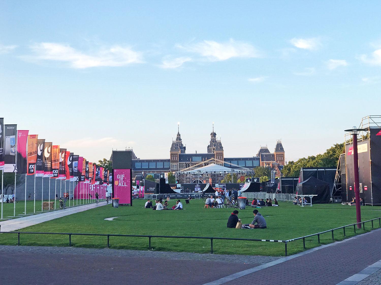 Museumplein park in Amsterdam