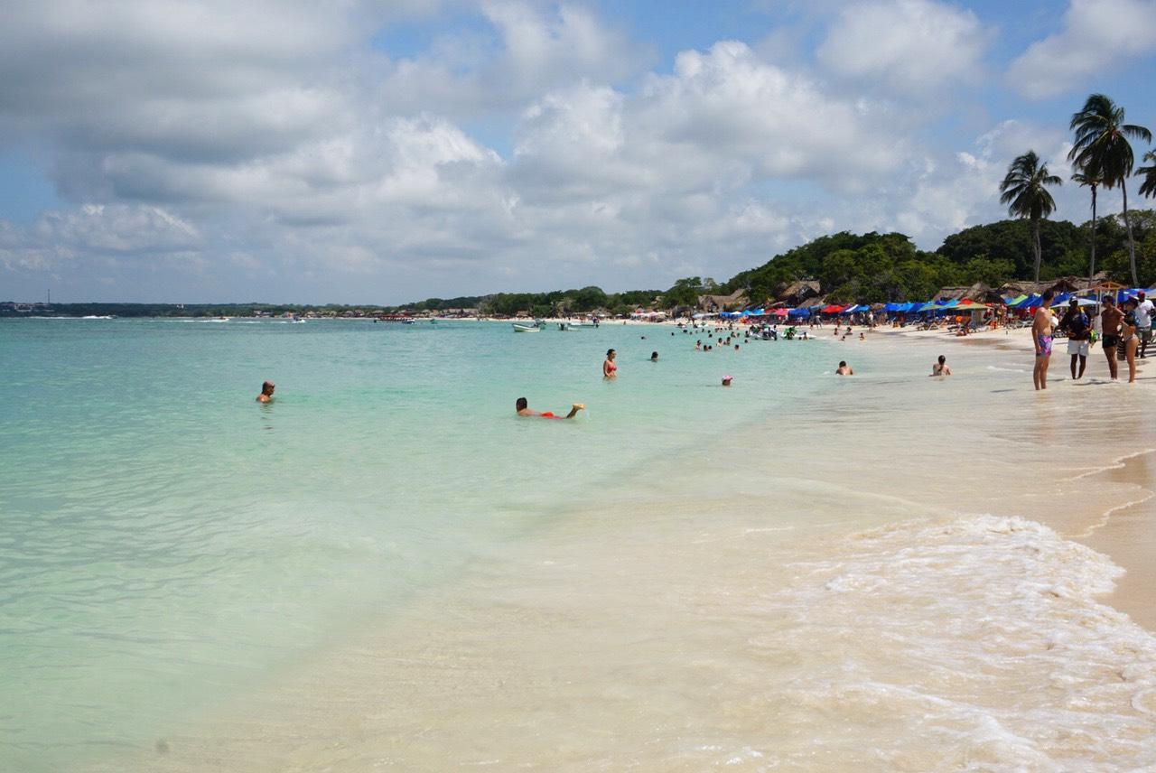 "Playa Blanca on the ""island"" of Baru, Cartagena, Colombia"