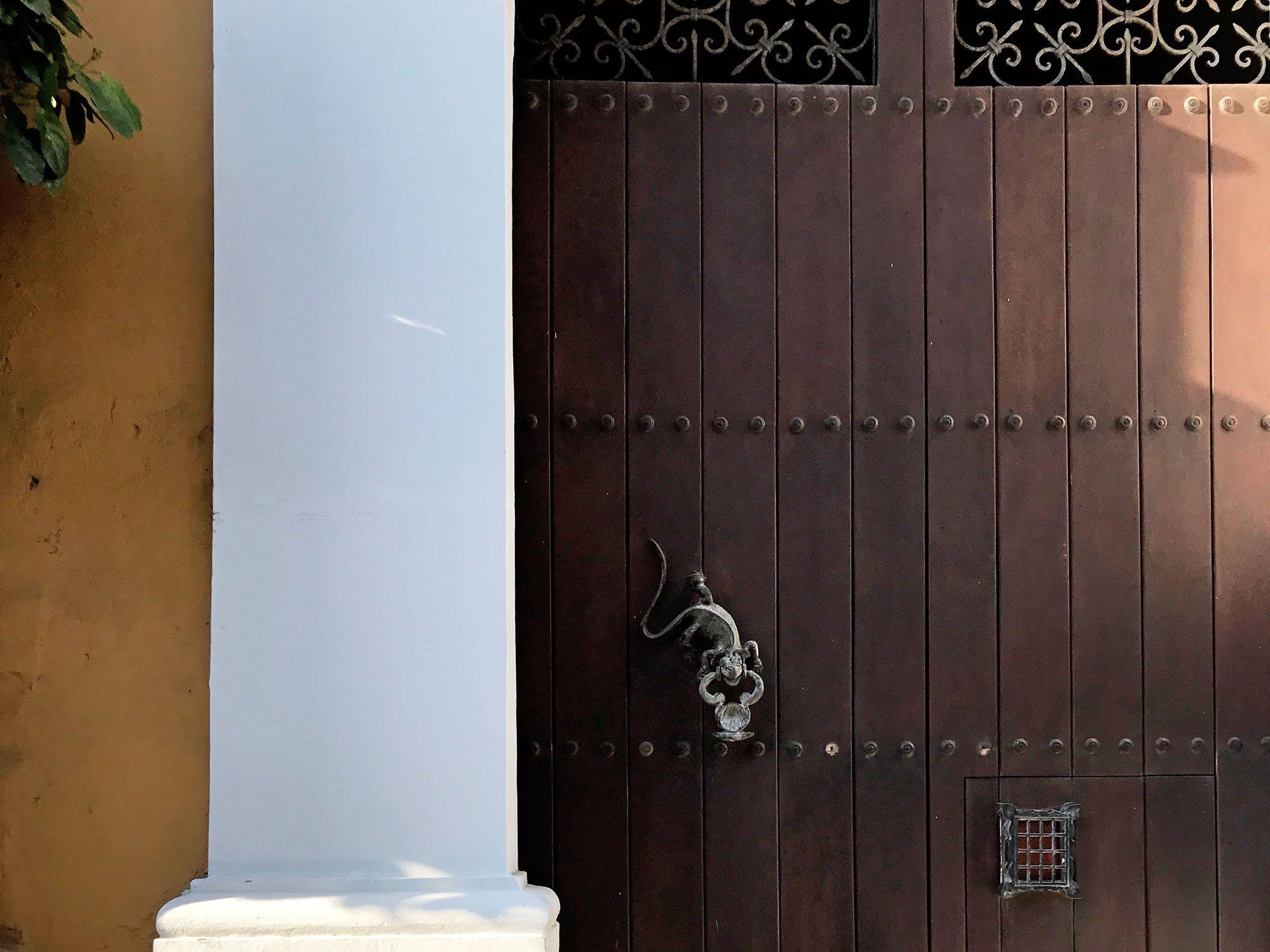 iguana door knocker in Cartagena, Colombia  | pictures of Cartagena, Colombia