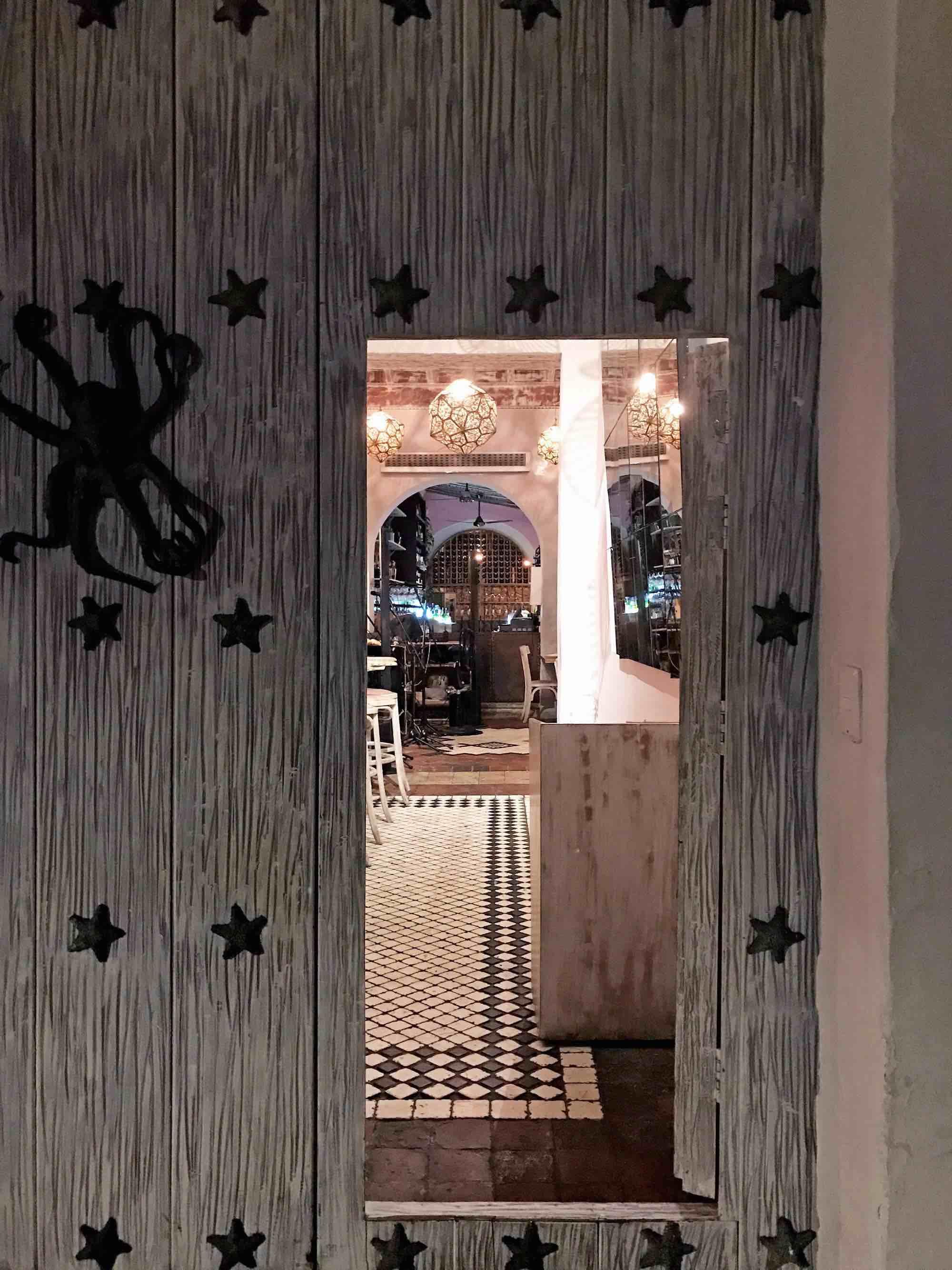 Octopus door knocker | Doors and Door Knockers of Cartagena, Colombia | pictures of Cartagena, Colombia