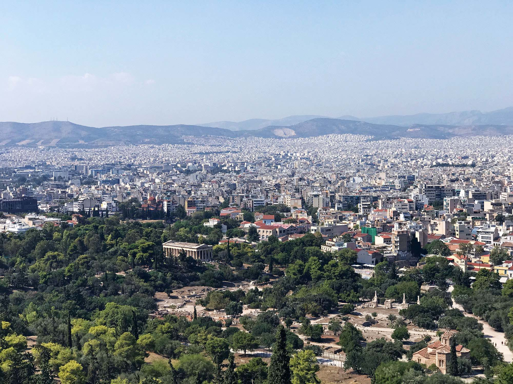 Views of Athens, Greece from the Acropolis