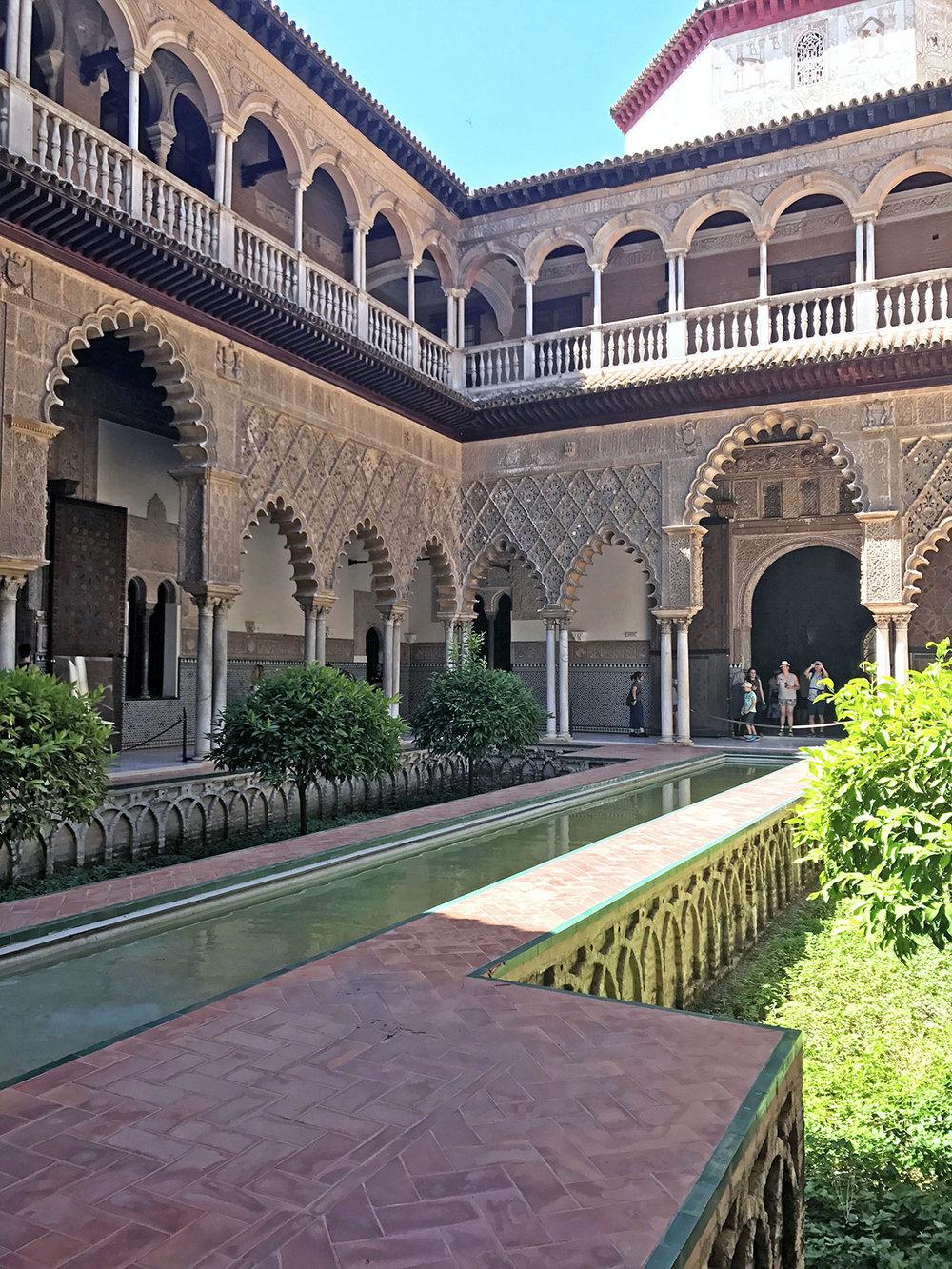 Courtyard of the Maidens| Alcázar, Seville,+Spain