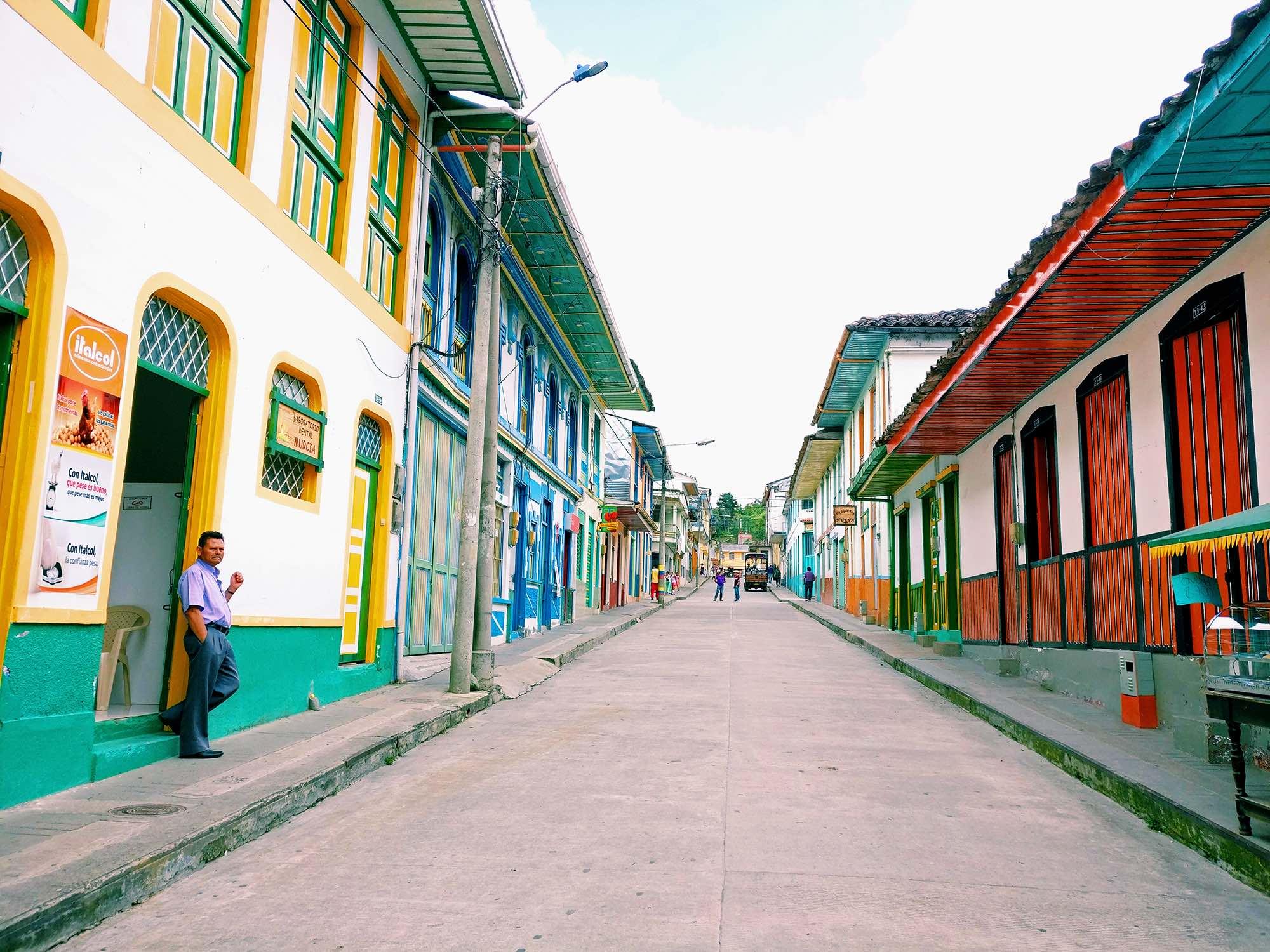 Pijao town in the colombian coffee region