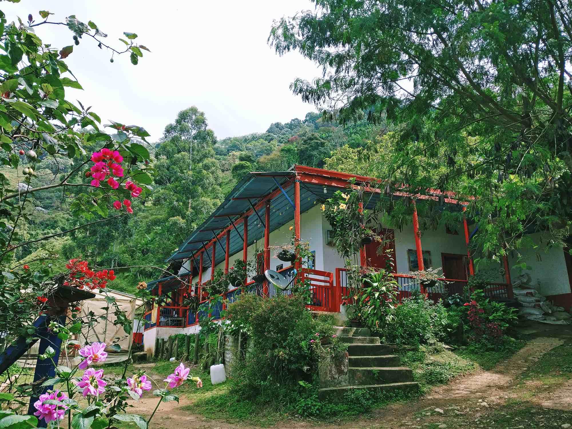 Colombian coffee region house