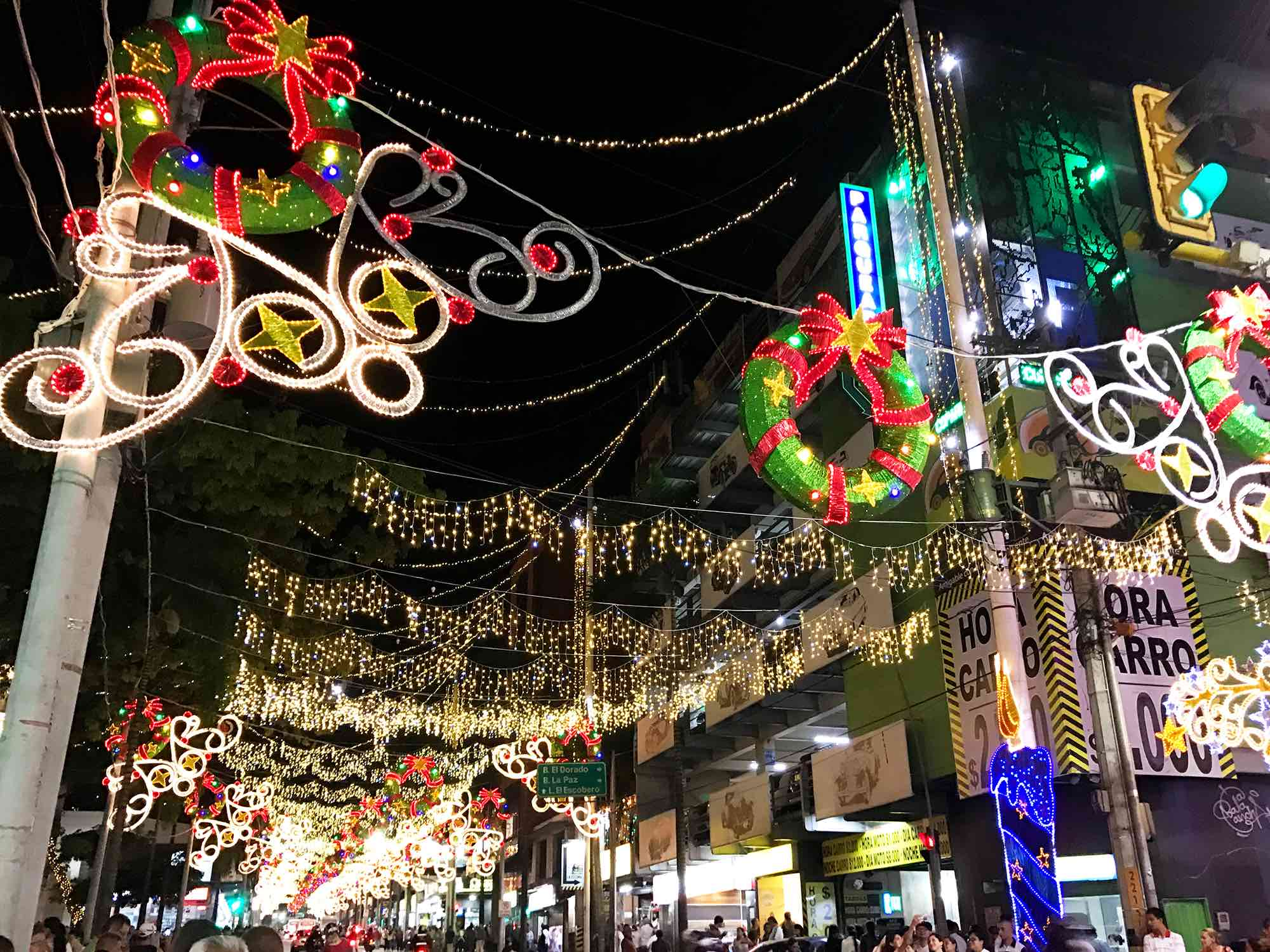 Medellin Cololmbia Christmas Lights