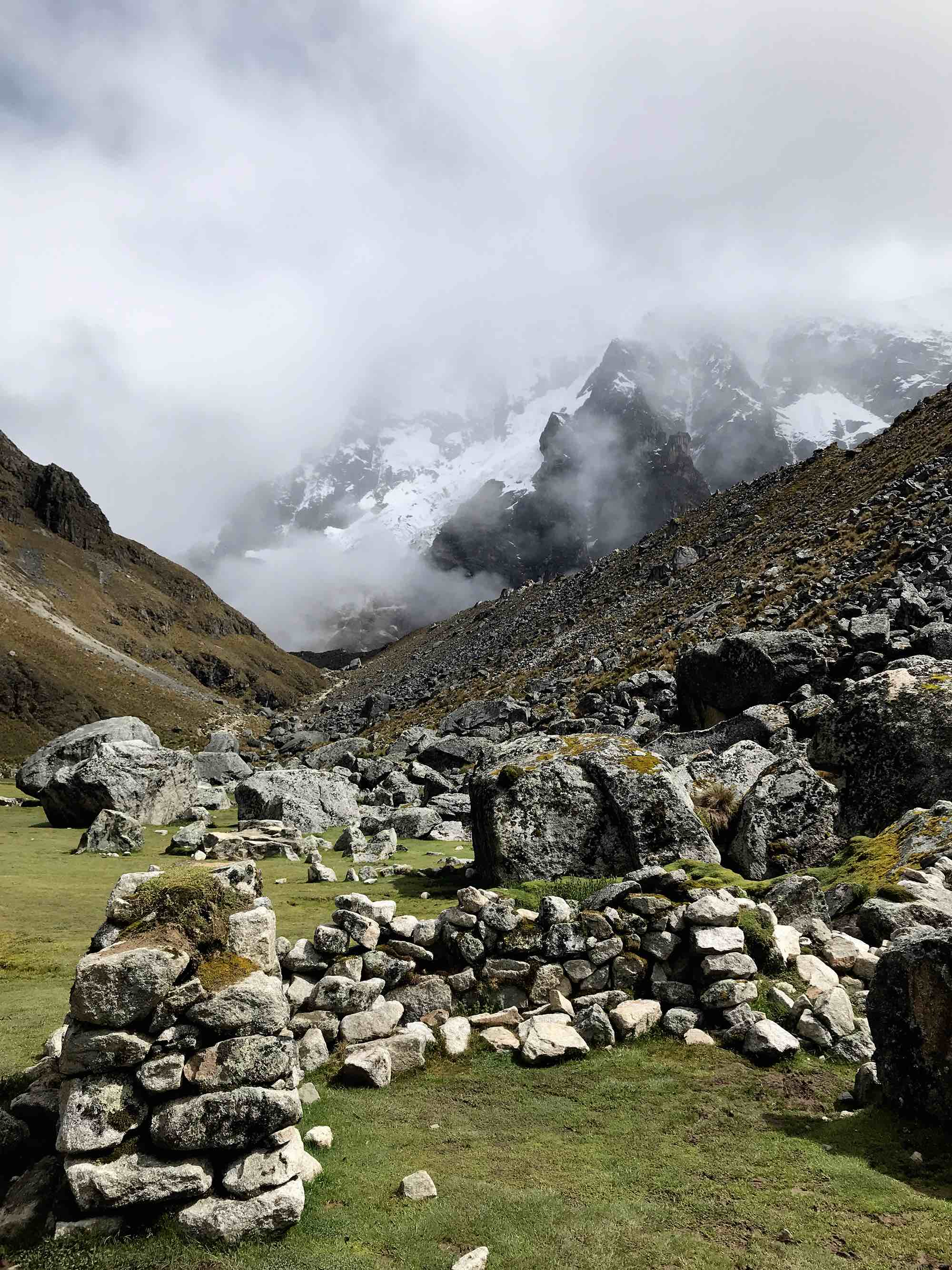 Inca ruins on Day 2 | Salkantay Trek to Machu Picchu Peru