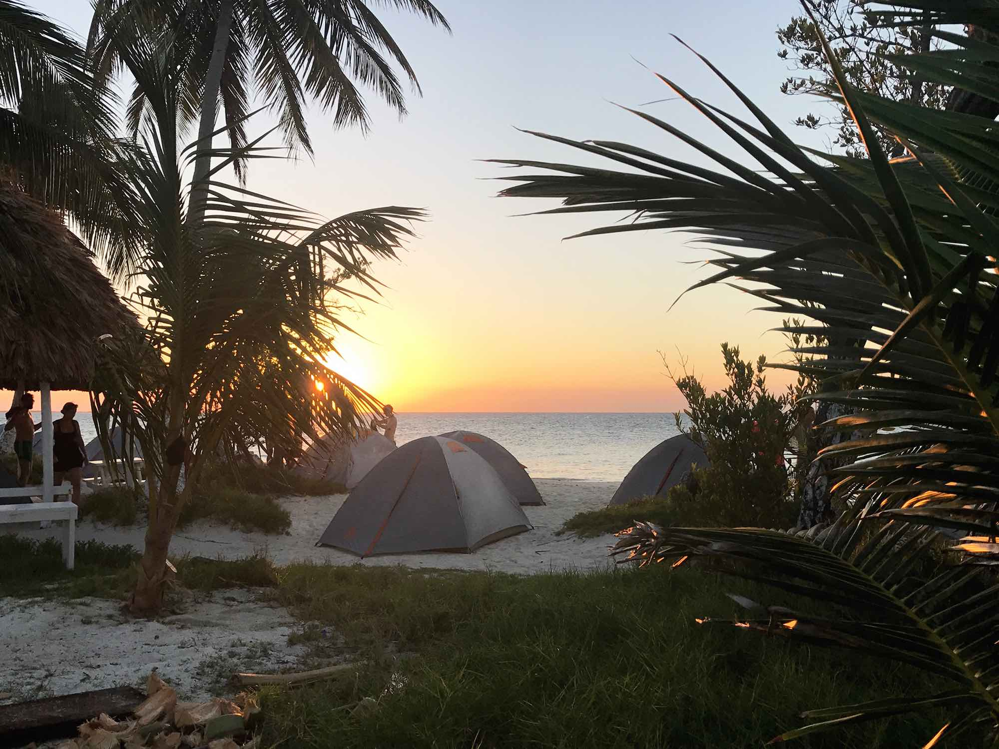sunset on Rendezvous Caye | Sailing in Belize